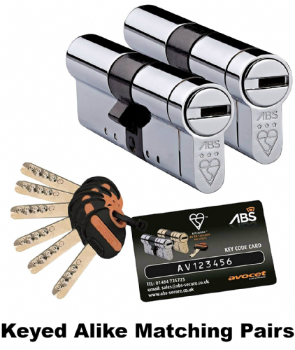 Avocet ABS MK3 Ultimate Double Cylinders - Keyed Alike Matching Pairs